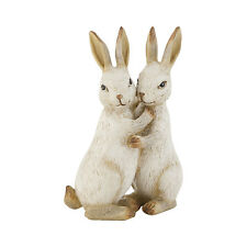 Osterdeko Clayre Eef Osterhasen Hasenpaar 12cm Deko Polyresin Ostern Shabby