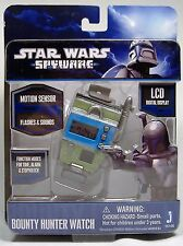 STAR WARS BOBA FETT SPYWARE BOUNTY HUNTER WATCH JANGO JAZWARES 2011 MOSC WORKS