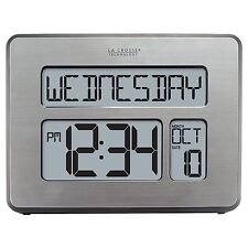 La Crosse Technology C86279 Atomic Full Calendar Clock with Extra Large Digits -