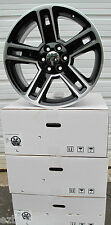 "22"" NEW GMC YUKON SIERRA CHEVY ESCALADE FACTORY STYLE BLACK MACHINED WHEELS 5664"