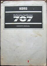 Korg 707 FM Performing Synthesizer Original Owner's Manual, Hard to Find Book