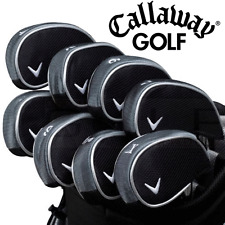 """NEW 2017"" CALLAWAY OVERSIZED DELUXE GOLF IRON HEADCOVERS 4-SW + X / 9 COVERS"