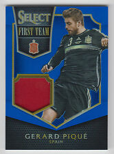 GERARD PIQUE 2015 Panini Select First Team Blue Prizm JERSEY #/99 Spain
