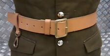 Genuine British Military Brown / Tan Leather Lineman Belt Without Clip