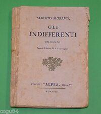 Alberto Moravia - Gli indifferenti - 2^ Ed. Alpes 1929 - Dal 5° al 10° migliaio