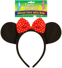 INSTANT MOUSE EARS FANCY DRESS HALLOWEEN COSTUME ACCESSORY HB MINNIE