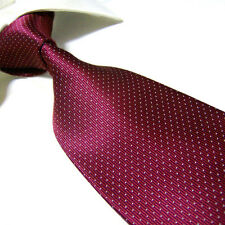 Extra Long 100% Polyester Mircofibre Tie PL299,Burgundy Necktie 63 inch