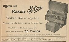 Y7316 Rasoir STAR - Nouveau Modèle - Pubblicità d'epoca - 1924 Old advertising