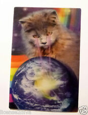 "LENTICULAR 3D CAT POWER W/PAPER EASEL! FRAMEABLE! NEW!  4""X6""! CAT DOMINATION!"
