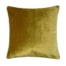 """LUXURY PLAIN VELVET GOLD THICK PIPED 22"""" - 55CM CUSHION COVER"""