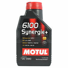 Motul 6100 Synergie+ 10W-40 Technosynthese Engine Oil 10W40 1 Litre 1L