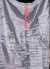 F1 Official Signed Hamilton, Alonso Vodafone Mclaren Mercedes Formula 1 Flag NIP