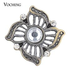 Vocheng Snap Charms 18mm Vintage Bronze Inlaid Crystal Button Jewelry Vn-1370