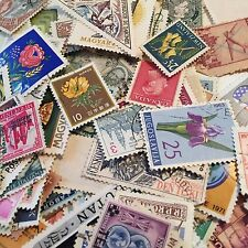 500 Stamps Used Cancelled Mixed Lot Off Paper U.S. & Worldwide Stamps