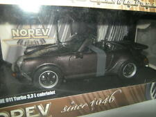 1:18 NOREV PORSCHE 911 Turbo 3,3l Cabrio n. 187514 BROWN/MARRONE RARO!!! OVP