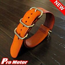 5 Rings Vintage Leather G10 Zulu Watch Strap Mens Antique Pilot Maratac Military