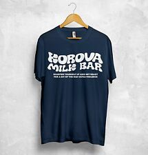 Korova Milk Bar T Shirt Top Sharpen Yourself Up Get Ready For Bit Ultraviolence