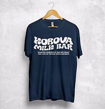 Korova Milk Bar T Shirt Top Sharpen Yourself Up Get Ready For Bit Ultraviolence