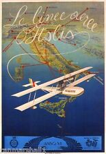 c1927 Airlines of Italy Vintage Art Travel Advertisement Poster Picture Print