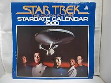 1980 Star Trek TV Series 12 Month Stardate Calendar Used Shatner Nimoy Spok Kirk