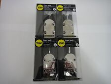 4 x YALE FOOT BOLTS IN POLISHED CHROME FINISH - NEW