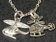 "Helicopters Charm Tibetan Silver with 18"" Necklace F109"