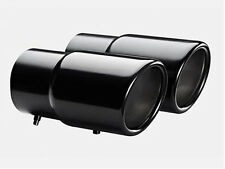 VW Passat CC Tiguan stainless steel black finish exhaust pipes tips 70mm