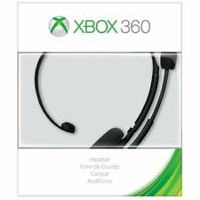 Microsoft Xbox 360 Headset Black With Noise-cancelling Headsets  NEW