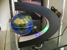 C Shape LED World Map Decoration Black  Magnetic Light Levitation Floating Globe