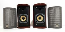 JVC SP-FSSD9 Round Beautiful Cherrywood Bookshelf Speakers 20W 4 Ohm