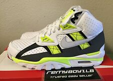 Nike Air Trainer SC High White Pure Platinum Volt Dark Grey Mens Sz 8 Bo Jackson
