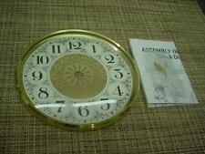 "6"" Brass-Colored Dial Domed Glass Mantel Clock Replacement Dial & Bezel  E980"