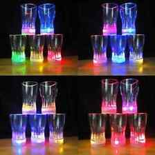 6-LED Flash Light Whisky Shot Drink Glass Cup Beer Bar Party Wedding Club CAD