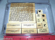 Stampin Up Thanks Tons Stamp Set Baby Ring Snowflake Star Flower Leaf Thank You
