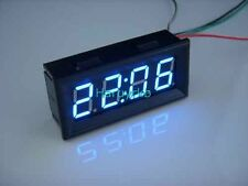 "0.56"" Digital Clock blue LED Panel Display Time Watch DC 12/24V Battery Powered"