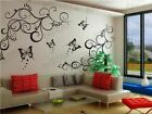 Large Butterfly vine stickers wall Decal Removable Art Vinyl Decor Home Nursery