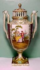 Hand Painted Meissen Themed Potpourri Vase By Helena Wolfsohn