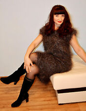 Sweater Dress Longhair 100% Goat Down Mohair FETISH super sexy cashmere