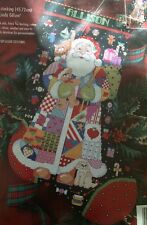 Santa Stocking Cross Stitch Kit Kooler Design Linda Gillum Bucilla OOP New