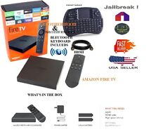 AMAZON FIRE TV BOX / Alexa Voice 4k UNLOCKED JAILBROKE ,TV MOVIES Keyboard HDMI