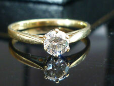 Stunning 18ct Yellow gold 0.35ct Brilliant cut diamond solitaire ring Nov7