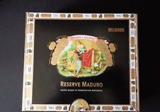Empty Wood Cigar Box Romeo Y Julieta Belicoso Reserve Maduro Black
