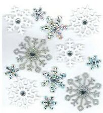 Jolee's GLITTER SNOWFLAKES Stickers CHRISTMAS WINTER SNOW