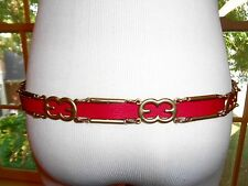 NWT $395 Escada Leather Logo belt S