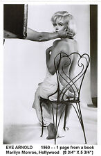 MARILYN MONROE 1960-rpt EVE ARNOLD Hollywood Actress + free picture of Marilyn