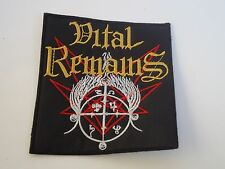 VITAL REMAINS LOGO EMBROIDERED PATCH