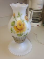 Vintage Milk glass hurricane lamp