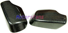 REAL CARBON FIBER WING MIRROR COVER CAP 1PAIR 98-06 BMW E46 3-SERIES 325 330 323