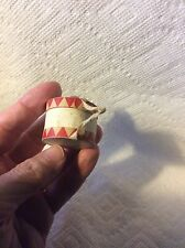 ANTIQUE CARDBOARD PAPER DRUM CANDY CONTAINER CHRISTMAS ORNAMENT