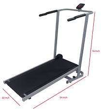"Manual Treadmill  cardio walk run exercise Foldable 22""W 54""L 56""H+Counter NEW"